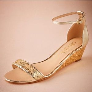 BHLDN x ANTHROPOLOGIE BILLY ELLA Glitter Wedge
